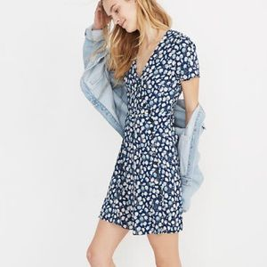 Madewell Button Wrap Dress French Floral